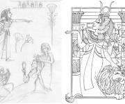 Coloring pages Cleopatra the legend