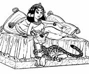 Coloring pages Cleopatra to print