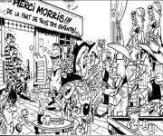 Coloring pages Daltons in the cartoon bar