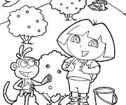 Coloring pages Dora and Boots online