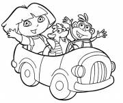 Coloring pages Dora and her friends