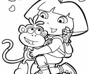 Coloring pages Dora drawing
