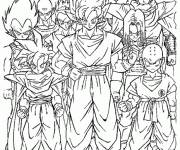 Coloring pages Dragon Ball Z characters