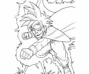 Coloring pages Dragon Ball Z combat