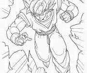 Coloring pages Dragon Ball Z Gohan