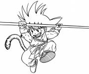 Coloring pages Dragon Ball Z Goku