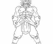 Coloring pages Dragon Ball Z mighty