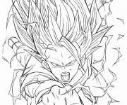 Coloring pages Dragon Ball Z Songoku