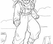 Coloring pages Dragon Ball Z Trunks