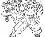 Coloring pages Dragon Ball Z Trunks and Bulma