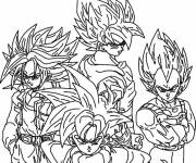 Coloring pages Dragon Ball Z vegetta
