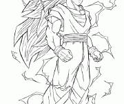 Coloring pages Mighty Dragon Ball Z Songoku