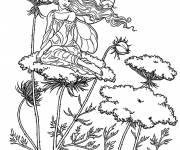 Coloring pages Butterfly Elf