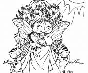 Coloring pages Cute elf