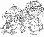 Coloring pages Elf and Fairies