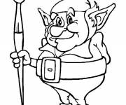 Coloring pages Elf for Coloring