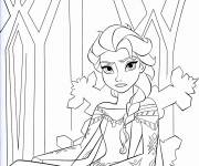 Coloring pages Angry elsa