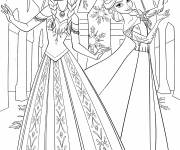 Coloring pages Elsa and Anna to print for free