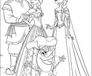 Coloring pages Elsa and her family