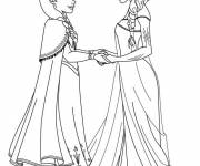 Coloring pages Elsa the snow queen to print