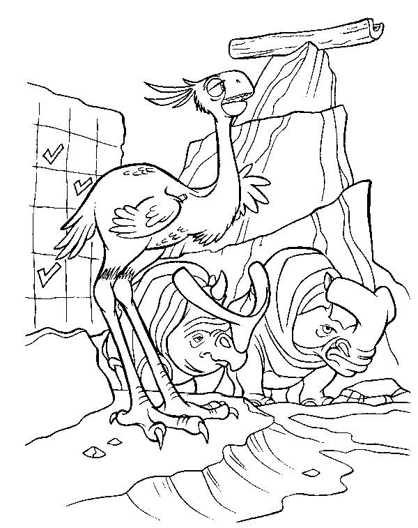 Free coloring and drawings Animals on the run: Ice Age Coloring page