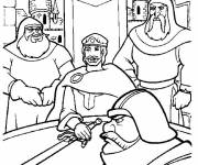 Coloring pages Excalibur cartoon