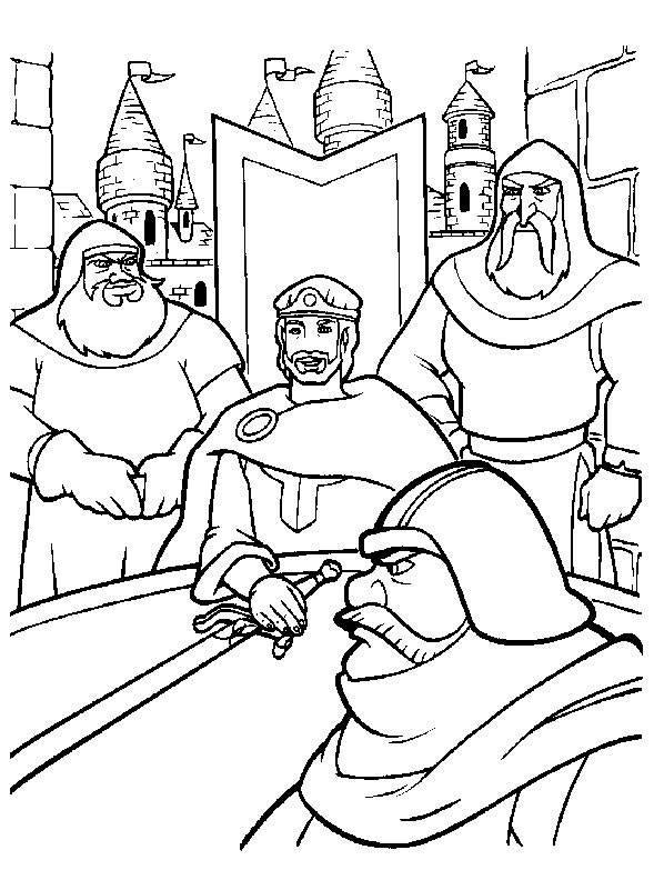 Free coloring and drawings Excalibur cartoon Coloring page