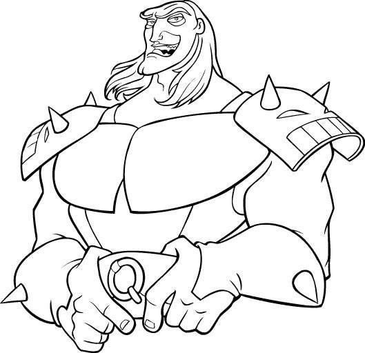 Free coloring and drawings Excalibur Character Coloring page