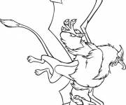 Coloring pages Excalibur easy