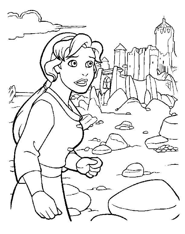 Free coloring and drawings Excalibur Kayley Coloring page