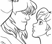 Coloring pages Excalibur Kayley in love