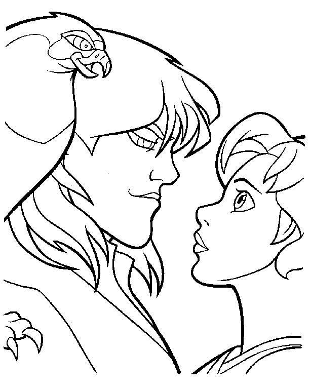 Free coloring and drawings Excalibur Kayley in love Coloring page