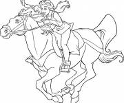 Coloring pages Excalibur Kayley on Horse