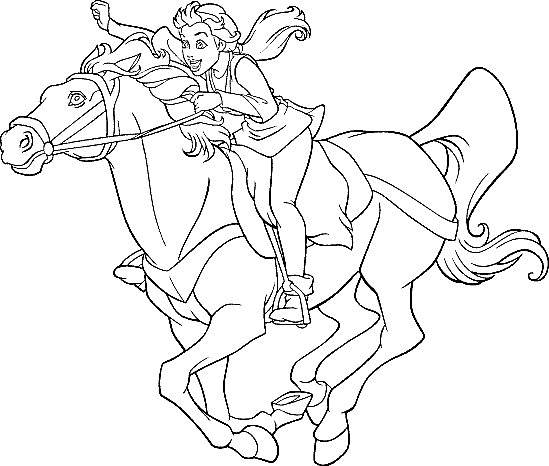 Free coloring and drawings Excalibur Kayley on Horse Coloring page
