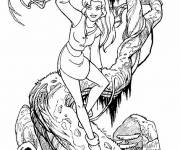 Coloring pages Excalibur Kayley on tree
