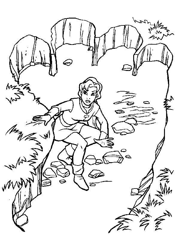 Free coloring and drawings Excalibur magic Coloring page