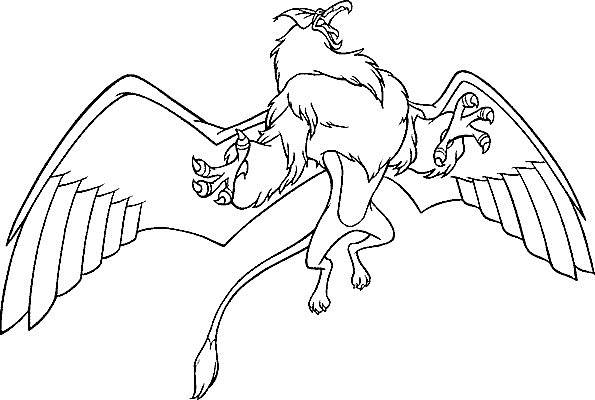 Free coloring and drawings Excalibur magic eagle Coloring page