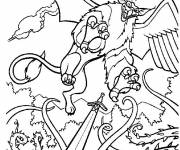 Coloring pages Excalibur scene