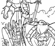 Coloring pages Excalibur the magic sword