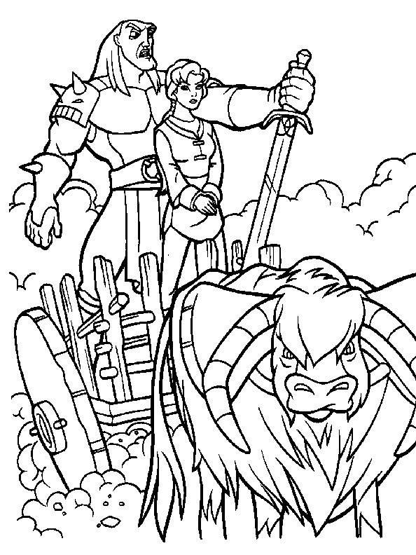 Free coloring and drawings Excalibur the magic sword Coloring page