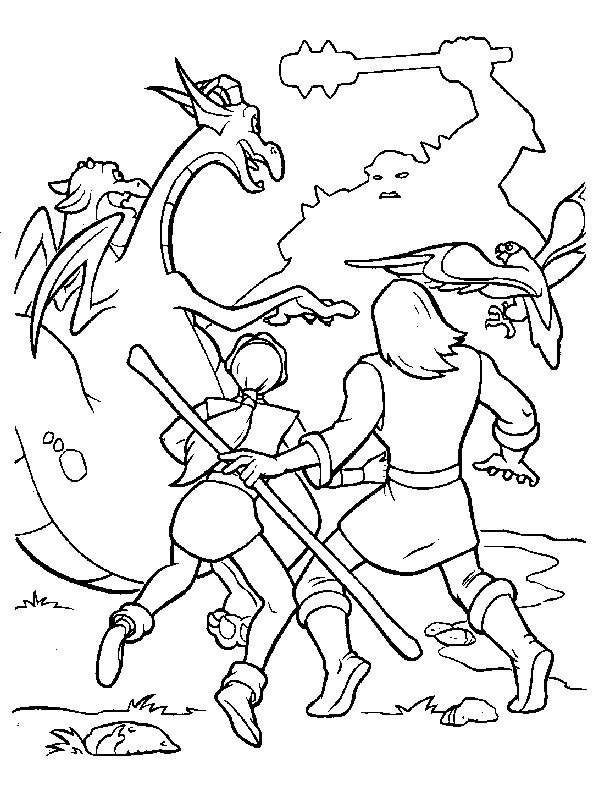 Free coloring and drawings Excalibur the magic sword characters Coloring page