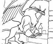 Coloring pages magic sword drawing
