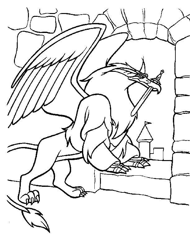 Free coloring and drawings magic sword drawing Coloring page