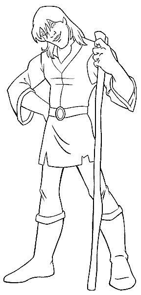 Free coloring and drawings Rubber Excalibur Character Coloring page