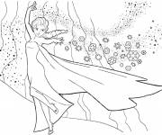 Coloring pages Elsa and Frozen