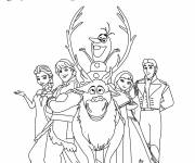 Coloring pages Frozen and Characters