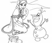 Coloring pages Frozen Anna and Olaf online