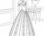 Coloring pages Frozen Anna to color on computer
