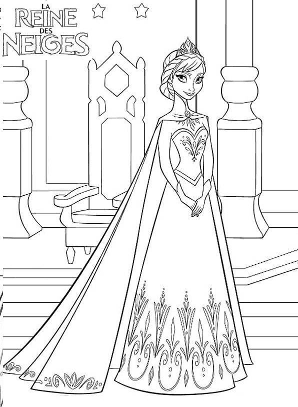 Printable Frozen to print A4 free sheets coloring page