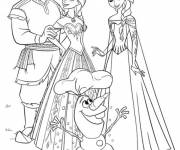 Coloring pages Olaf and his family